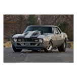 Silver Muscle car Poster