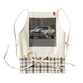 Silver Muscle car Zazzle HEART Apron