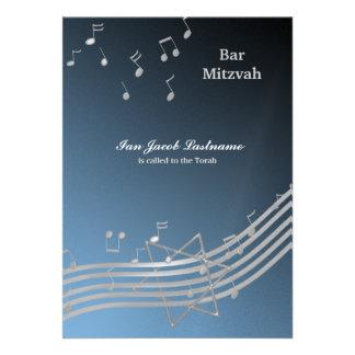 Silver Music in the air Invite