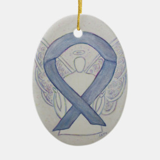 Silver Mystic Awareness Ribbon Angel Ornament