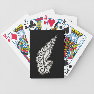 Silver Narwhal Waves Celtic Style Art Bicycle Playing Cards
