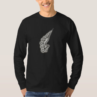Silver Narwhal Waves Celtic Style Art T-Shirt