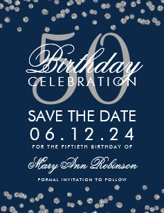 50th birthday save the date cards greeting photo cards zazzle