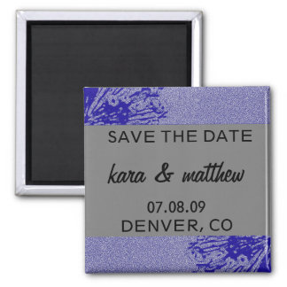 Silver & Navy Save the Date Magnets