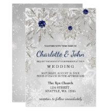 Winter wedding invitations announcements zazzle junglespirit Gallery