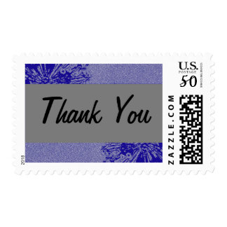 Silver & Navy Thank You Stamp