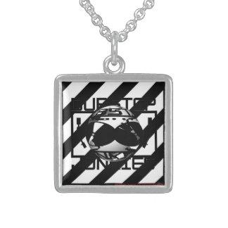 Silver necklace Dubstep junkies design