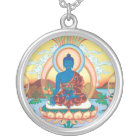 SILVER NECKLACE & PENDANT Medicine Buddha