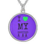 i [Love heart]  my besties    i [Love heart]  my besties    Silver Necklaces