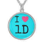 i [Love heart]  1d  i [Love heart]  1d  Silver Necklaces
