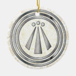 Silver Neo-Druid symbol of Awen 1 Christmas Ornament