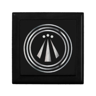 Silver Neo-Druid symbol of Awen 2 -Gift Box