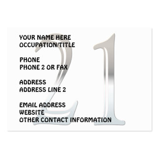 Silver Number 21 Business Card