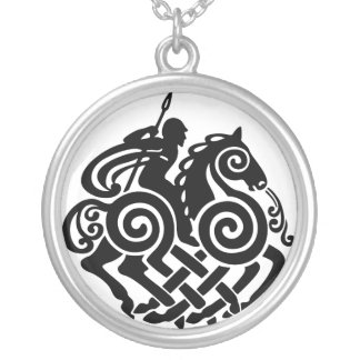 Silver Odin 3 Round Pendant Necklace