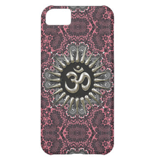 Silver Om Vintage Pink Damask  iPhone 5C Cover