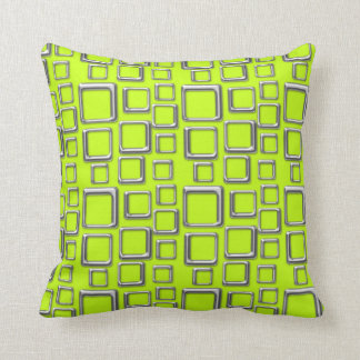 SIlver on Acid Green Feeling Sixties Pillow
