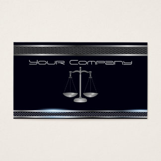 Silver Legal Business Cards & Templates | Zazzle