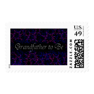 Silver on Black Grandfather to Be Stamps