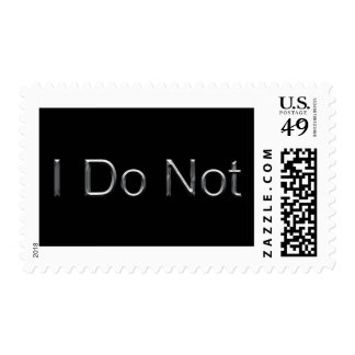 Silver on Black I Do Not Postage