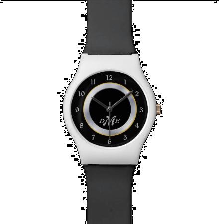 Silver on Black Monogram Wristwatches