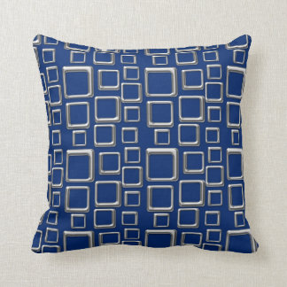 SIlver on Blue Feeling Sixties Pillow