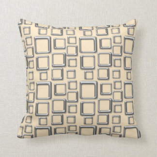 SIlver on Creme Feeling Sixties Pillow