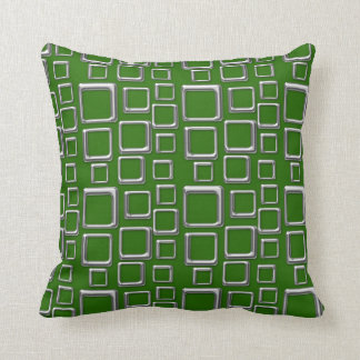 SIlver on Green Feeling Sixties Pillow