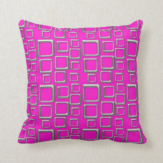 Silver on Pink Feeling Sixties Pillow