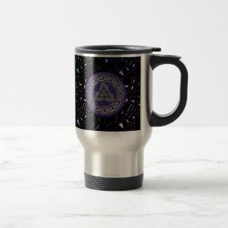 Silver on Purple Celtic Wheel on a Jeweled Sky Mug