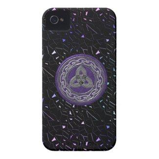 Silver on Purple Celtic Wheel on Jeweled Sky