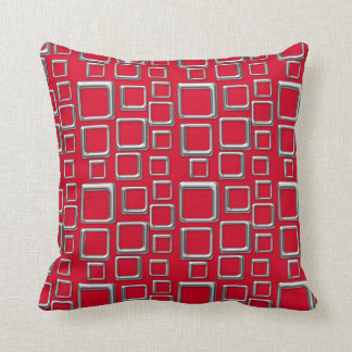 SIlver on Red Feeling Sixties Pillow
