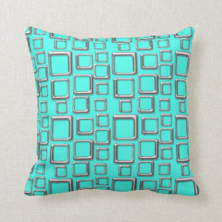 SIlver on Turquoise Feeling Sixties Pillow
