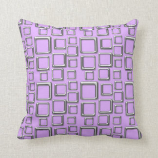 SIlver on Violet Feeling Sixties Pillow