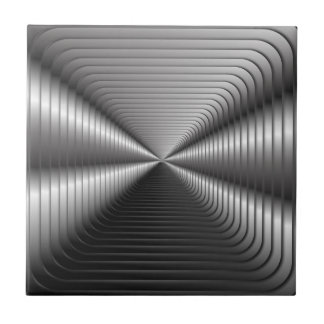 Silver Optical illusion Ceramic Tile