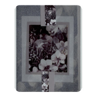 Silver Orchid Layers Silver Stationary Cards