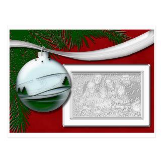 Silver Ornament Photo frame Postcard