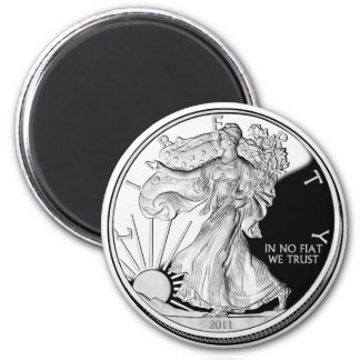 Silver Ounce 2 Inch Round Magnet