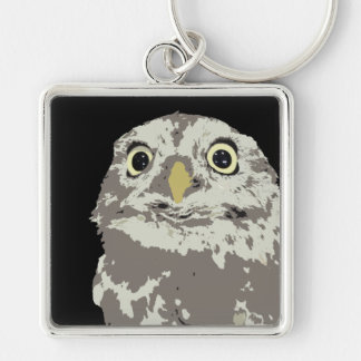 Silver Owl Deluxe Keychain