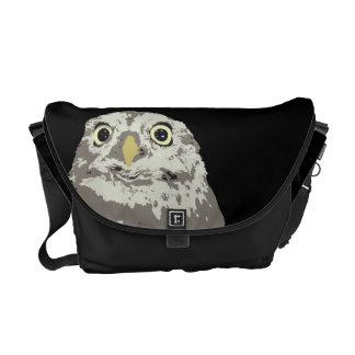 Silver Owl Messenger Bag