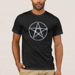 Silver Pagan Pentacle T-Shirt