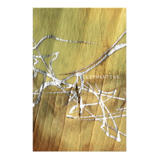Silver-painted elephant skin stationery