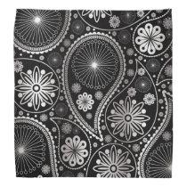 Silver paisley pattern bandana