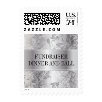 Silver Paisley Swirl Event Postage