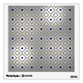 Silver Panels with Gemstones Wall Decal
