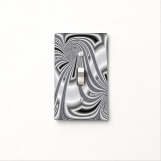 Silver Pattern Light Switch Covers