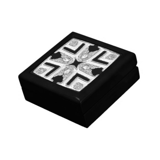 Silver Patterned top Gift Box