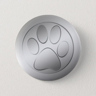 SILVER PAW PRINT BUTTON