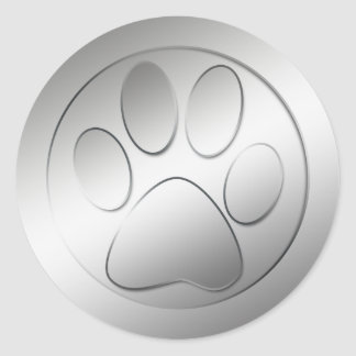 SILVER PAW PRINT STICKERS