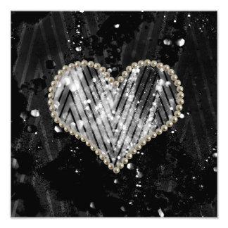 Silver Pearl Heart Photo Art