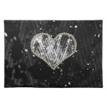 Silver Pearl Heart Place Mats
